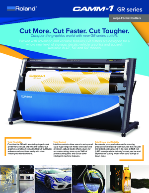 Download Brochure For Roland DGA CAMM 1 GR Series Large Format Vinyl Cutters
