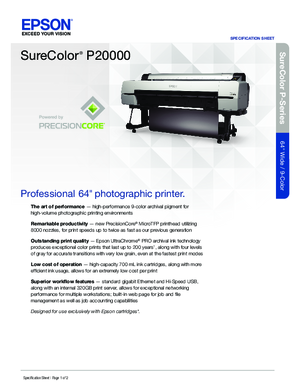 Download For Epson SureColor P20000 Printers Hardware