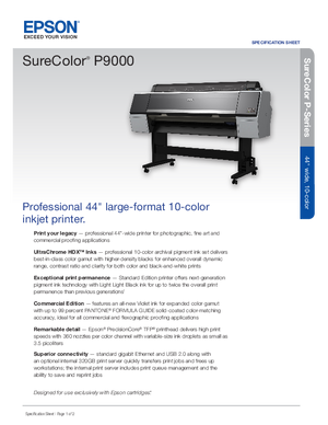 Download For Epson SureColor P9000 Printers Hardware
