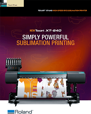 Download Brochure for Texart XT-640 Dye-Sublimation Printer class